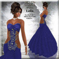 Lola's Ballroom Gown in Blue