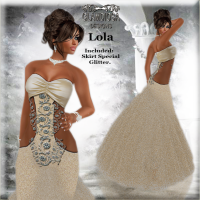 Lola's Ballroom Gown in Creme