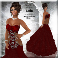 Lola's Ballroom Gown in Red
