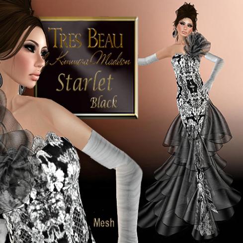 Tres Beau Starlet, black