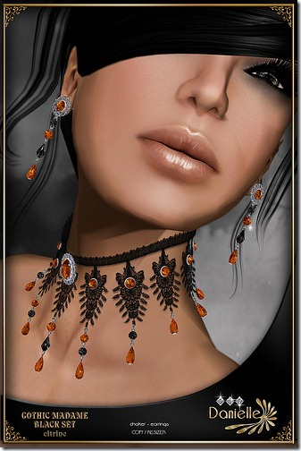 Madame Black Set Citrine