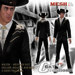 G&T Vendor Western Blazer Wayne suit 1
